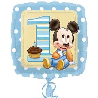 BNIB Disney Mickey 1st Birthday Foil Balloon