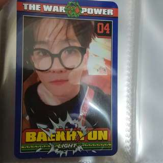 官方 power EXO bbh伯賢小卡