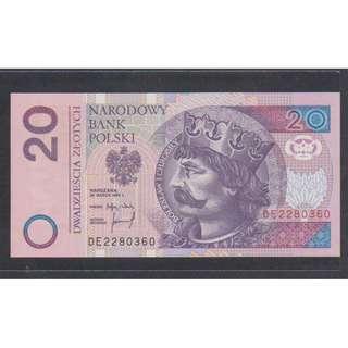 (BN 0034-1) 1994 Poland 20 Zothy - UNC