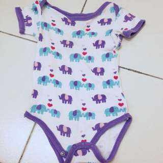 elephants love rompers 6m-9m unisex
