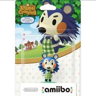 Nintendo Amiibo Animal Crossing Mabel Figure Wii U 3DS