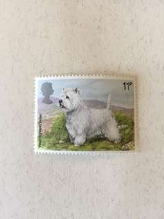 英國狗仔全新郵票一套四款