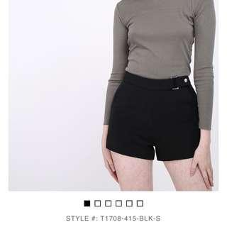 Black shorts from Runway Bandits