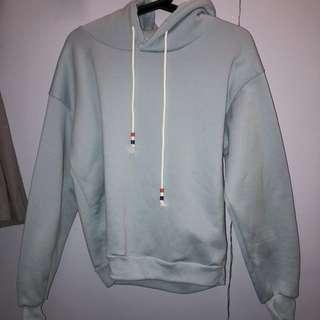 Pale blue hoodie