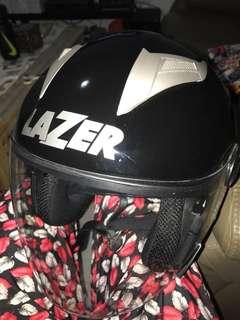 Lazer black glossy L size helmet