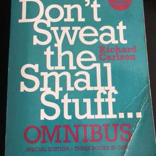 Books - Dalai Lama/ Don't sweat the small stuff etc