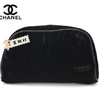 【CHANEL】單層 天鵝絨 :黑色 ( $98 - 包順豐 )