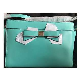 Kate Spada New York tiffany blue crossbody handbag