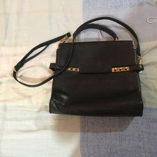 Charles and Keith black bag