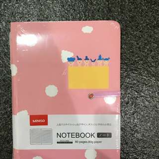 Miniso notebook pink simple