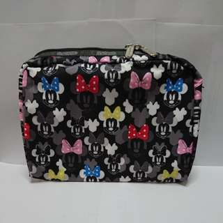 LeSportsac Extra Large Rectangular Cosmetic in Minnie Rocks The Dot