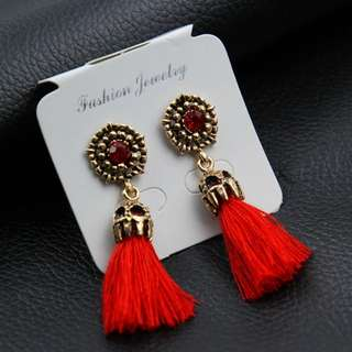 NEW Anting Tassel Diamon Merah Pesta