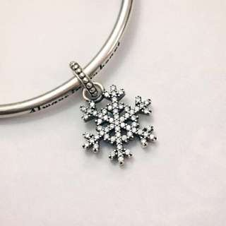 Originally $79! Beautiful authentic pandora charms - snowflake pendant