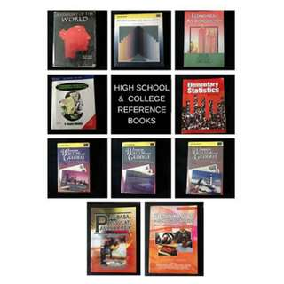 LOT SALE : HS&College Reference Books
