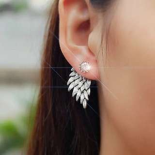 NEW  wings earrubg kerabu anting diamond