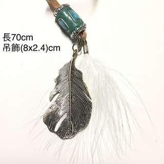 清貨🦄羽毛繩頸鏈