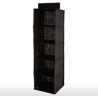 5 Shelf Hanging Fabric Storage Closet System