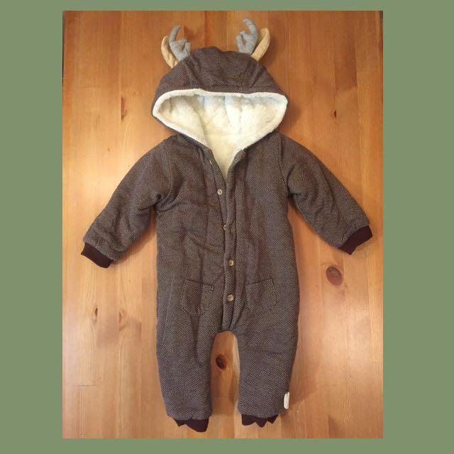 秋冬嬰幼兒寶寶造型馴鹿保暖連身裝