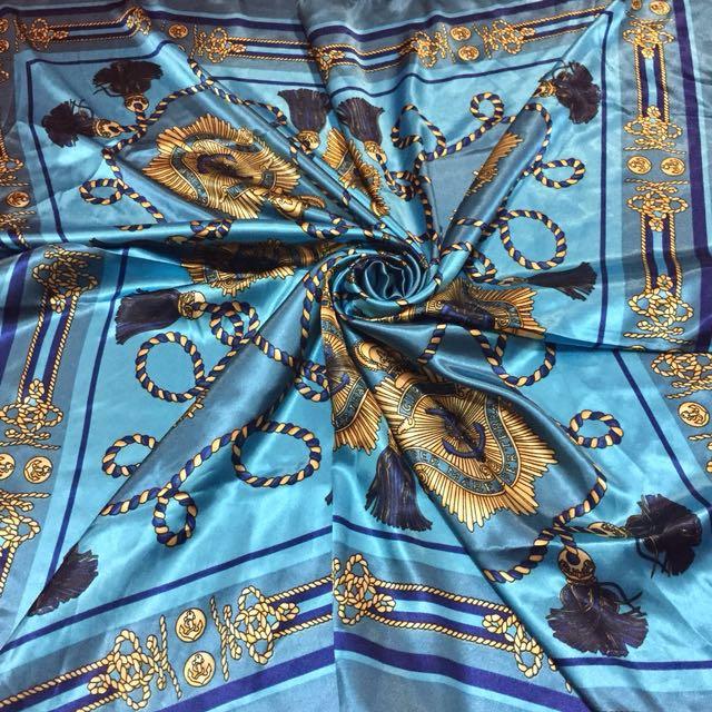 歐洲貴族緞面絲巾