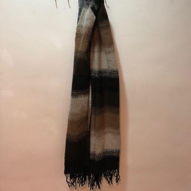 保暖格紋圍巾