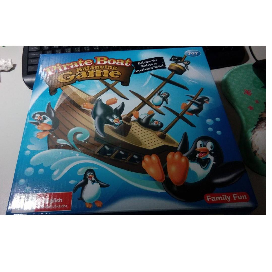 企鵝海盜船 桌遊