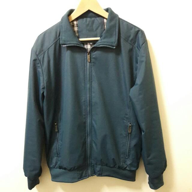 🔥土耳奇藍綠 外套 騎士 夾克 休閒 百搭 稀有 老品 古著 復古 vintag