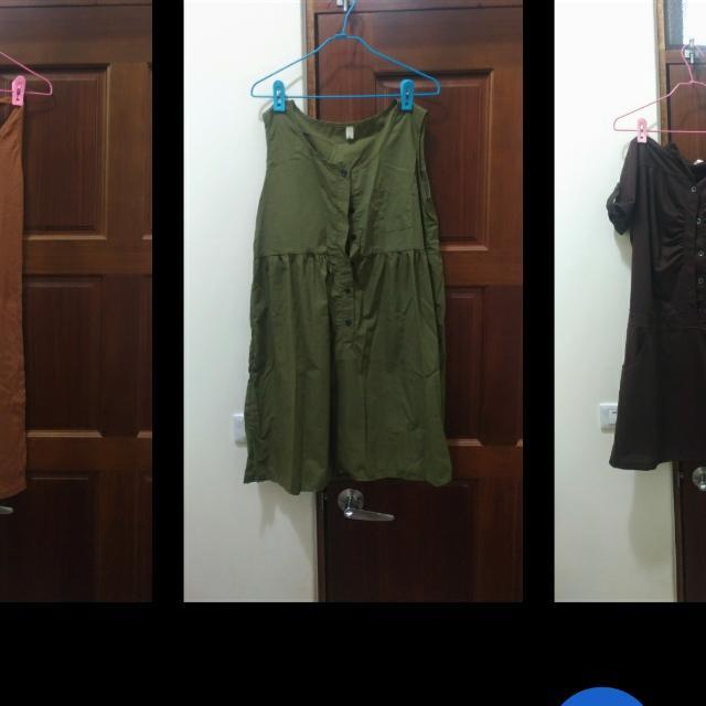 軍綠色洋裝 換物 轉轉來交換