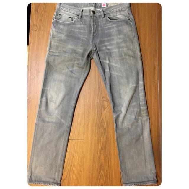 二手 All Saints 復古刷色牛仔褲 日本兒島布料 W32