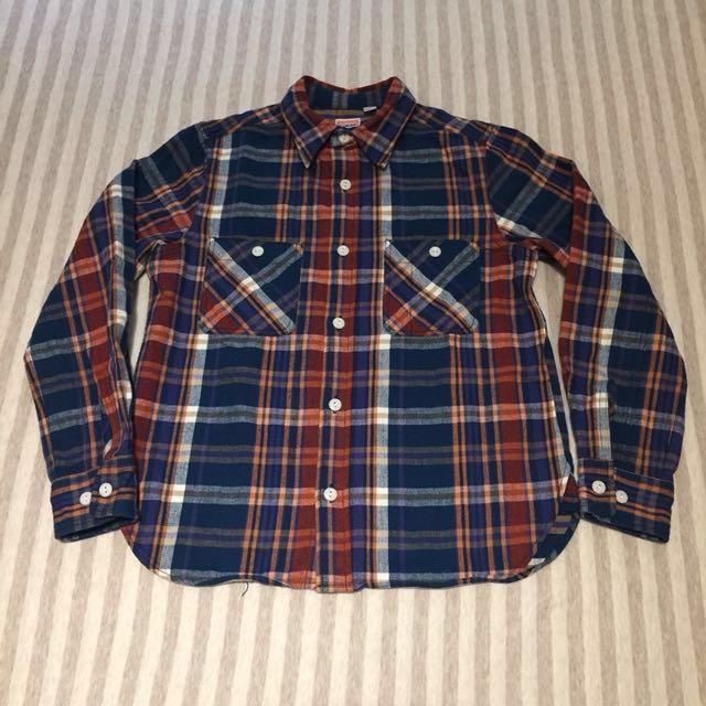 日本製 Beams boy 法蘭絨 襯衫 格子 格紋 學院 古著 Ivy