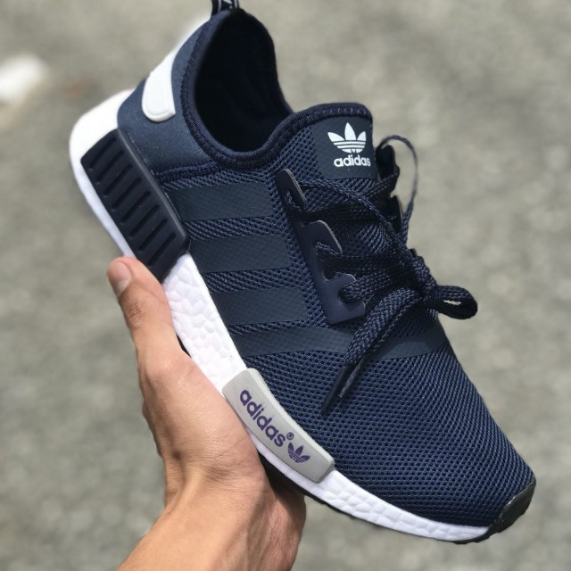 newest 826a5 4c867 ... ADIDAS NMD R1 NAVY BLUE SHOES, Men s Fashion, Footwear on Carousell ...