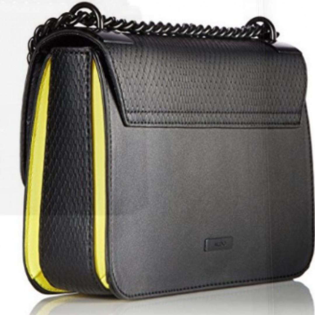 ef070956ef5 ALDO SNAKE EMBOSSED CROSSBODY BAG (BLACK)