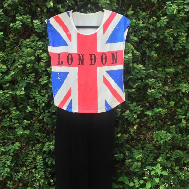 London Flag crop top