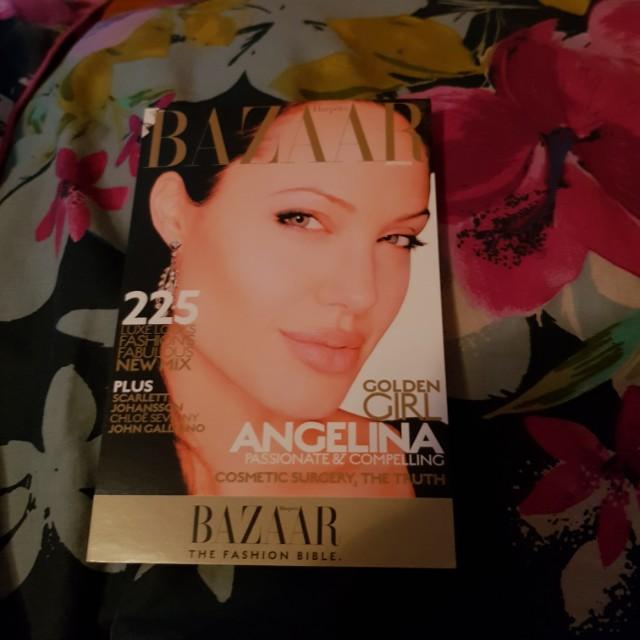 Angelina Jolie Harper's Bazaar promo postcard!😊