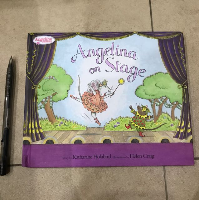 Angelina on Stage - hardcover
