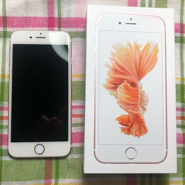 Apple 🍎 iPhone 6s 64g 玫瑰金 ✨配件齊全(內詳)(送正版保護殼喔)