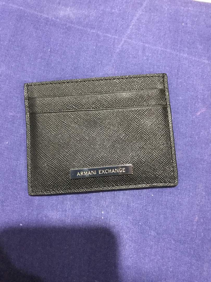 Armani Exchange cardholder, Men\'s Fashion, Bags & Wallets on Carousell