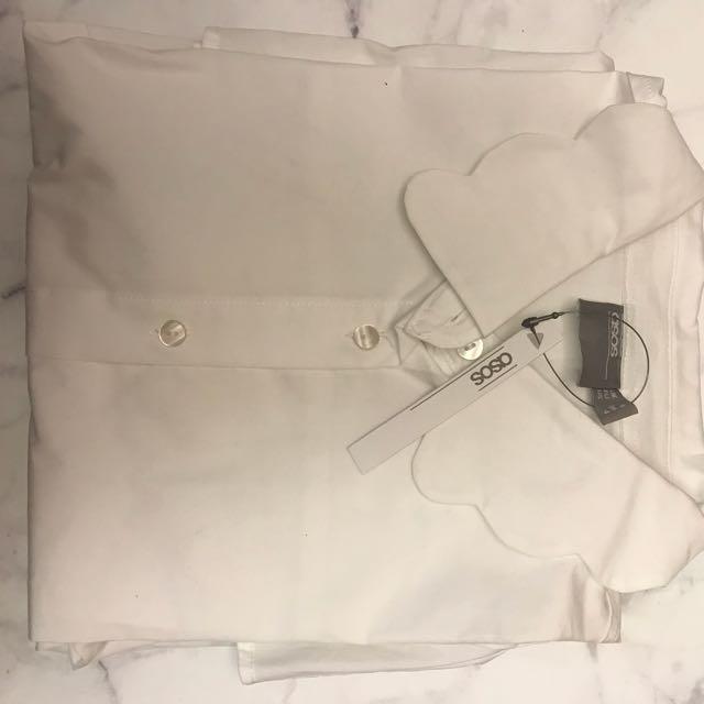 ASOS貝殼領長袖襯衫