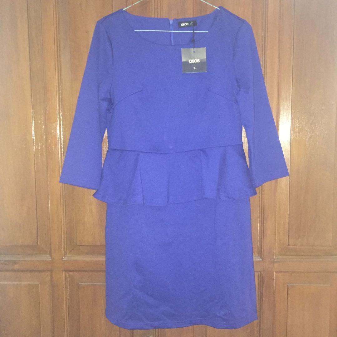 ASOS - Blue Peplum Dress