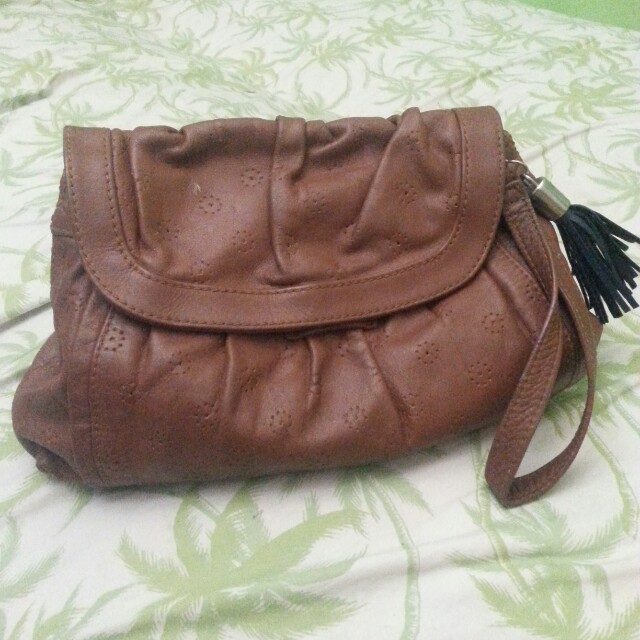 Authentic chloe leather clutch bag