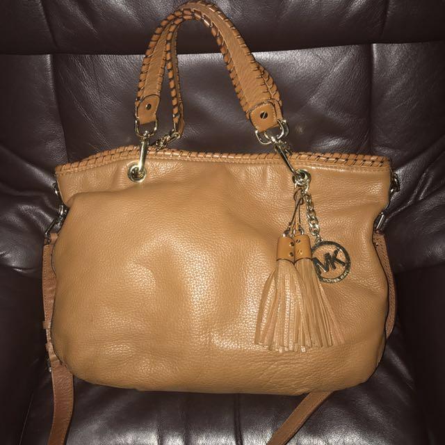 Authentic Michael Kors Large Leather Bennet Bag