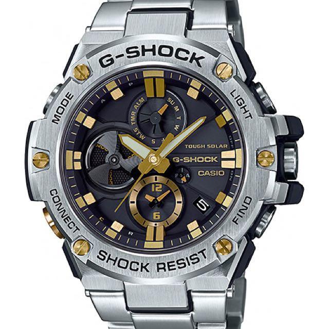 0f787fd33f0 Authentic Original G-Shock G-Steel GST-B100D Tough Solar Black Gold ...