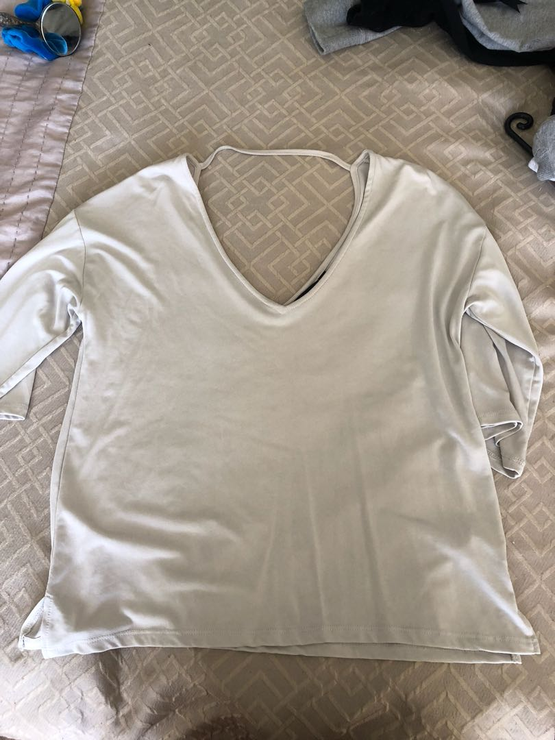 Baggy grey top size xs