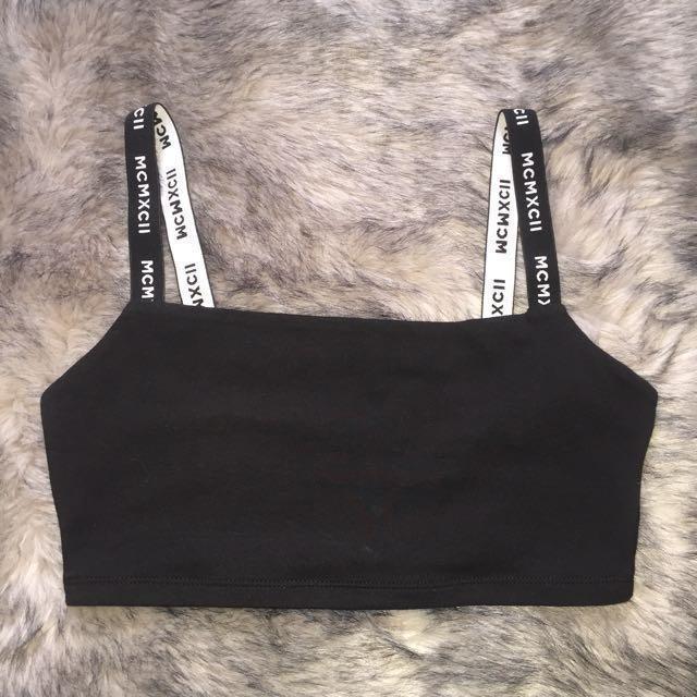 Black tight crop top