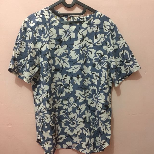 Blue Summer Floral Shirt