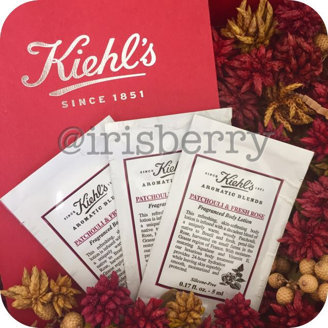 BN Kiehl's Aromatic Blends: Patchouli & Fresh Rose - Hand & Body Lotion