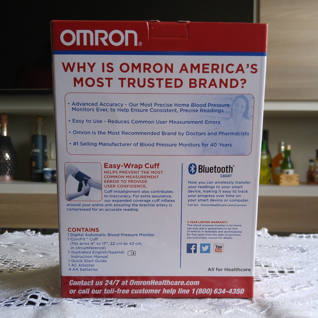 Omron 10 Series Wireless Blood Pressure Monitor with Bluetooth (BP786N)