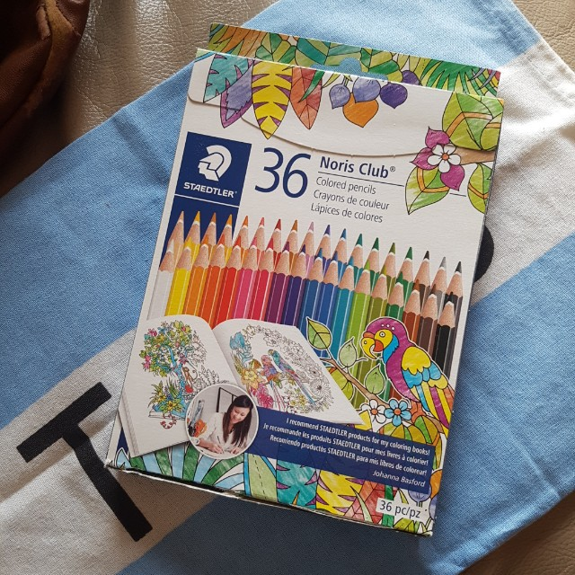 BRAND NEW SEALED Staedtler 36 pack Pencil Crayons