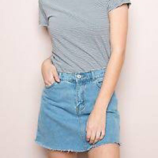Brandy Melville Juliette Denim Skirt