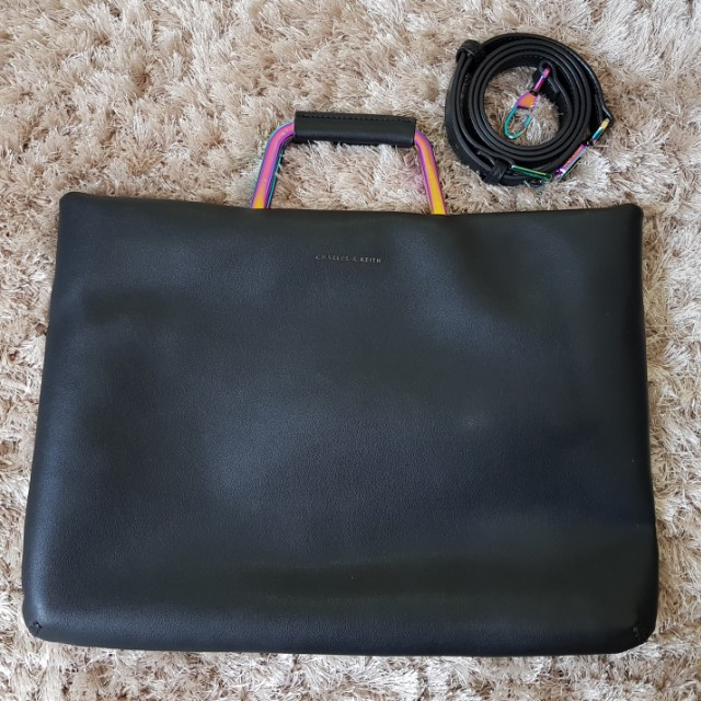 Charles & Keith Leather Laptop Case
