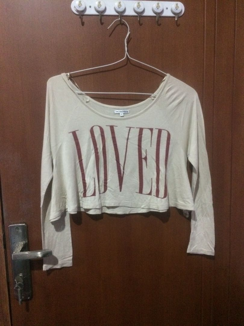 COLORBOX LOVED CROPPED TOP